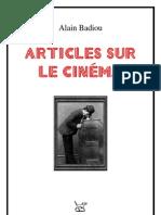 Badiou-Artic Sur Le Cinema