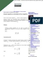 Eletricidade e Magnetismo (Básico)  Indução magnética ou densidade de fluxo magnético  e-física
