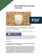 Los Efectos Perjudiciales de La Leche de Soja