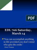 Saturday March 14
