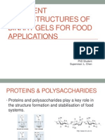Different Microstructures of Binary Gels for Food Applications