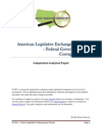 American Legislative Exchange Council – Federal Government and Corrupt Practices (updated)