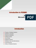 Basics of DBMS