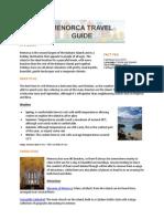 Hotels4u Menorca Travel Guide