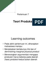 Teori Produksi