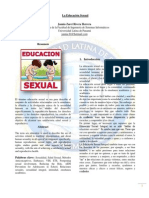 Articulo La Eduacion Sexual
