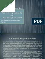 Multidisciplinariedad, Transdisciplinariedad e Interdisciplinariedad