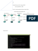 Simulasi Routing Static Dengan GNS3