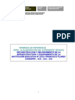 Terminos de Referencia Completo Modelo Para Cuncash