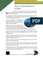 Consumo futuro y disponibilidad de fuentes de energía