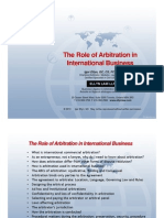 The Role of Arbitration in International Business