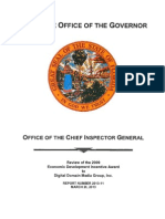 Florida Chief Inspector General Report on the Economic Development Incentive Award to Digital Domain - March 26, 2013