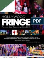 Hollywood Fringe F&B Sponsorship Packet 2013