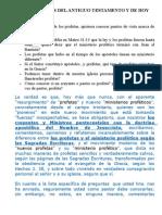 LOS PROFETAS DEL ANTIGUO TESTAMENTO Y DE HOY