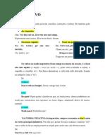 INSTRUÇÕES GRAMATICAIS - IMPERATIVO