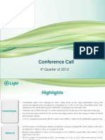 Conference Call 4Q12