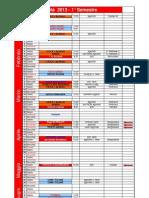 Calendario FIKTA Piemonte 2013 1° semestre