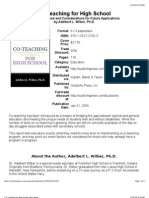Co-Teaching for High School Sales Sheet