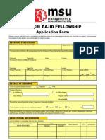 Shukri Yajid Fellowship