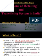 Functions of Retailing and Franchising System in India