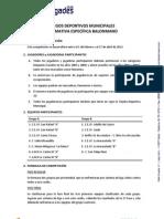 Normativa Especifica JDM 2012-2013