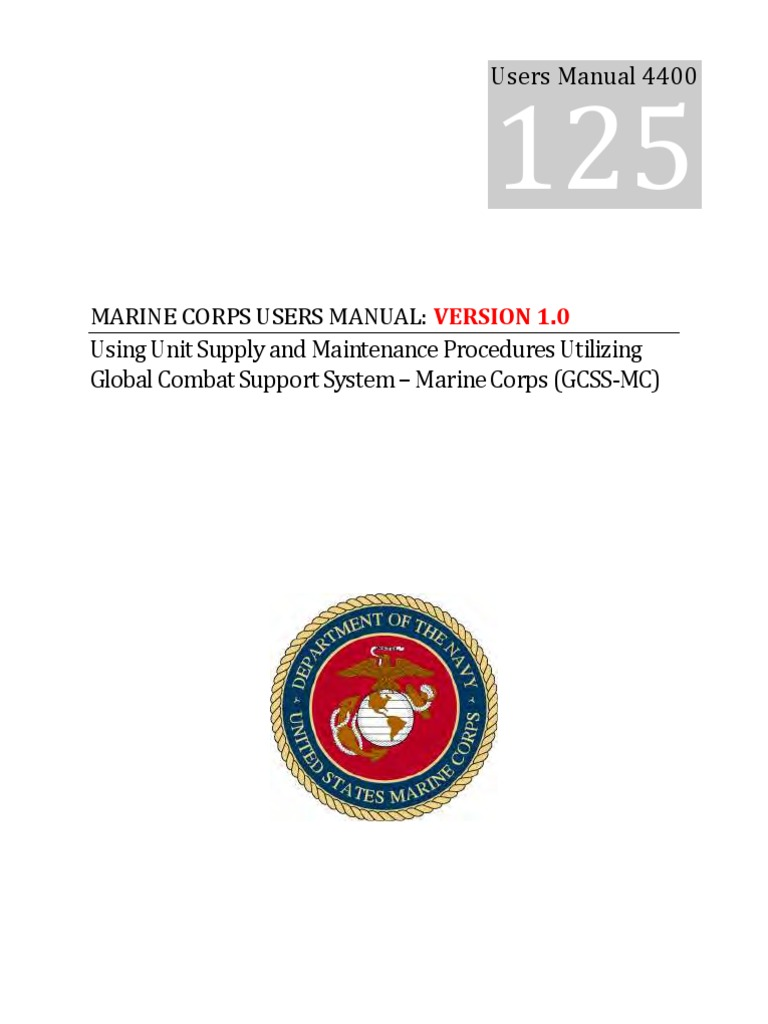 Marine Corps User Manual Sample User Manual