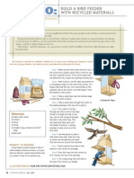 how to- build a bird feeder with recycled materials pdf