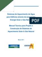 Manual Tecnico Para Projeto e Construcao de Sistemas de Aquecimento Solar e Gas Natural