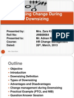 Change Management During Downsizing 1