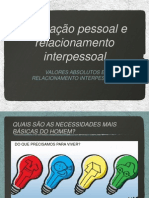 Valores Absolutos e Relacionamento Interpessoal