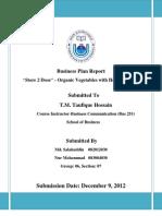 Business Plan Report Final Josi and Rana Fall 2012