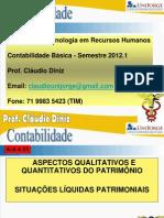 Contabilidade - Aspectos Qualitativos e Quantitativos Do Patrimonio - Aula 03 Prof Claudio