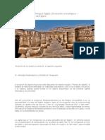 Evolución de los templos egipcios.