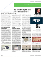 CADCAM Update Technologies and Materials and Clinical Perspectives