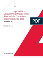 Wage and Hour Litigation