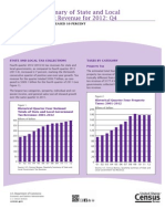 Quarterly Summary of State and Local  Government Tax Revenue for 2012