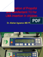 Combination of Propofol and Remifentanil TCI for LMA2012