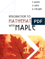 Adams - Introduction to Mathematics With Maple