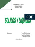 Solidos y Liquidos