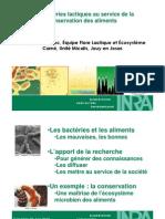 20100602 MoniqueZagorec Les Bacteries Lactiques Au Service de La Conservation Des Aliments