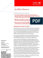 130328 the RBA Observer on Hold and Next Move May Be Up