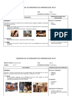 Esquema de Actividades de Aprendizaje 2012