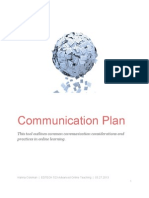 Communication Plan for Online Teaching