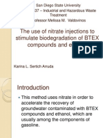 The Use of Nitrate Injections to Stimulate Biodegradation - Ppt