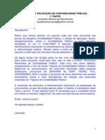AULA 06 - CAMPO DE APLICAÇÃO DA CONTABILIDADE PÚBLICA