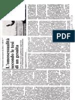"""""""L'omosessualità secondo le tesi di un gesuita"""" (Avanti!, 13 gennaio 1980)"""