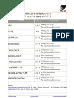 Fechas de Finales Febrero 2013
