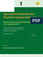 Agricultural Outlook Report Sept 2012
