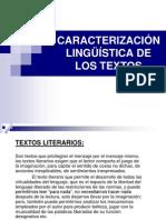 8.- CARACTERIZACIÓN LINGÜISTICA DE LOS TEXTOS - copia.ppt