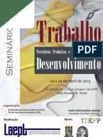 Programa+º+úo - Semin+írio Trabalho & Desenvolvimento